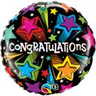 "18"" / 46cm Congratulations Shooting Stars Qualatex #41434"