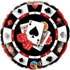 """18"""" / 46cm Casino $ Qualatex #43389"""