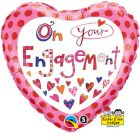 "18"" / 46cm Rachel Ellen - On Your Engagement Qualatex #51171"