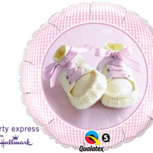 "18"" / 46cm Baby Girl Shoes Qualatex #81832"