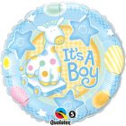 "18"" / 46cm It's A Boy Soft Giraffe Qualatex #91299"