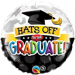 "18"" / 46cm Hats Off To The Graduate! Qualatex #93214"