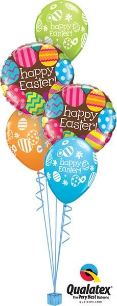 Bukiet 400# - 18″ / 46cm Easter Egg Patterns Qualatex #13243_2, 13245_3