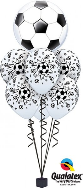 Bukiet 383# - 22″ / 56cm Soccer Ball Qualatex #19064, 18062