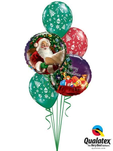 Bukiet 447# - 18″ / 46cm Santa's Christmas List Qualatex #32343_2, 44781_3