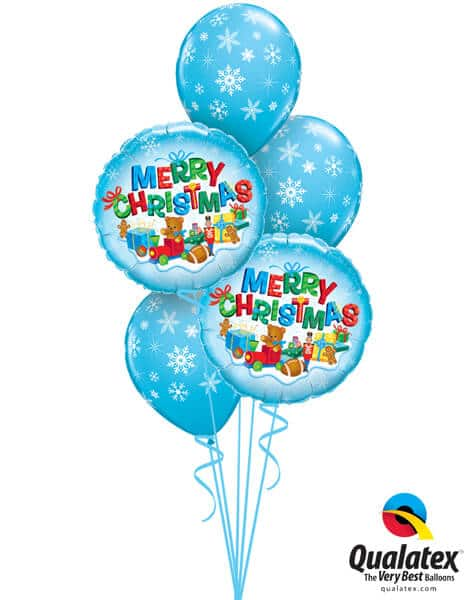 Bukiet 445# - 18″ / 46cm Merry Christmas Presents Qualatex #40079_2, 33531_3
