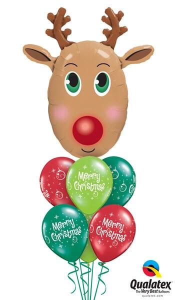 Bukiet 455# - 36″ / 91cm Red Nosed Reindeer Qualatex #40077, 27712_6