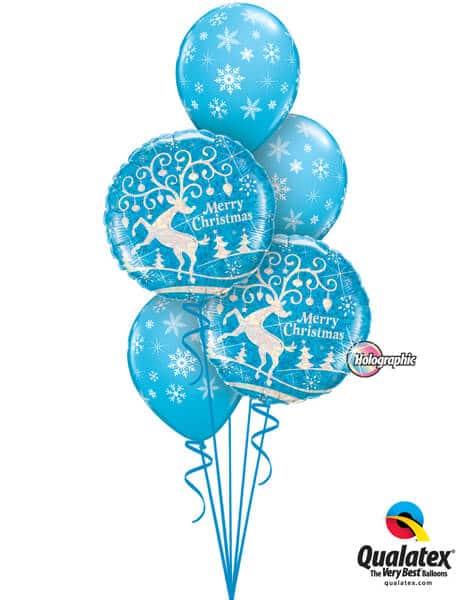 Bukiet 449# - 18″ / 46cm Decorated Reindeer Qualatex #54147_2, 33531_3