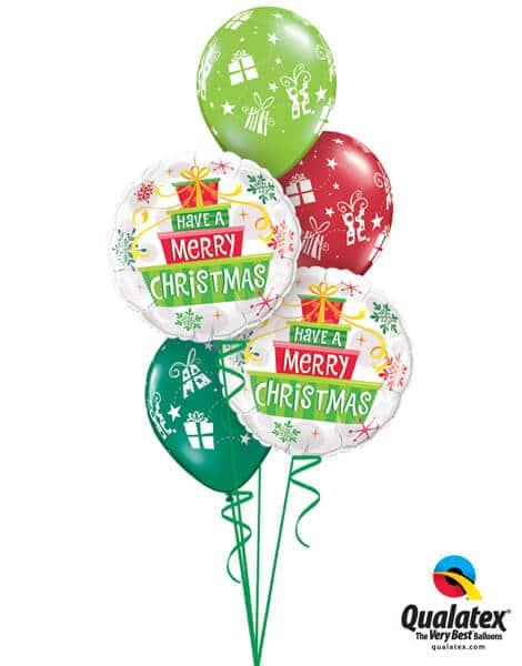 Bukiet 460# - 18″ / 46cm Christmas Gifts & Snowflakes Qualatex #55085_2, 60126_3