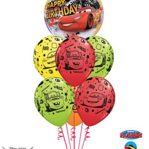 "Bukiet 441# - 22"" / 56cm Disney Pixar Lightning McQueen & Mater Birthday Qualatex #14759, 18706_6"