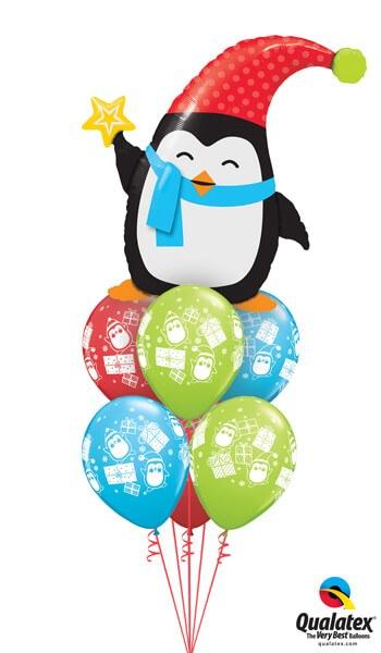 Bukiet 454# - 35″ / 89cm Popular Elfin Penguin Qualatex #44232, 44778_6