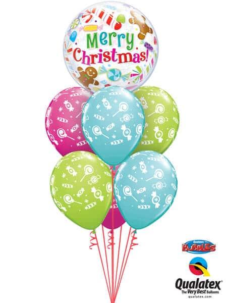 Bukiet 451# - 22″ / 56cm Christmas Candies & Treats Qualatex #43434, 44781_6
