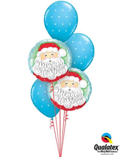 Bukiet 457# - 18″ / 46cm Merry Christmas Santa Qualatex #43516_2, 18466_3