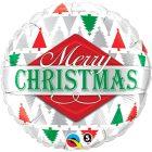 "18"" / 46cm Merry Christmas Tree Patterns Qualatex #43496"