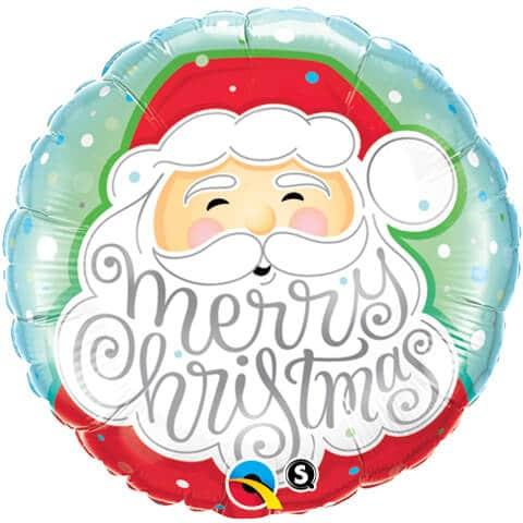 """18"""" / 46cm Merry Christmas Santa Qualatex #43516"""