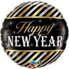 "18"" / 46cm New Year Diagonal Stripes Qualatex #43525"