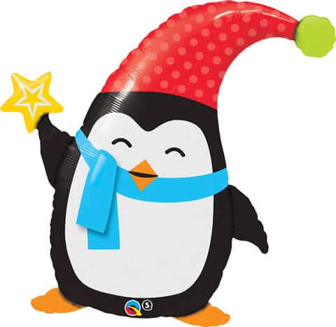 "35"" / 89cm Popular Elfin Penguin Qualatex #44232"