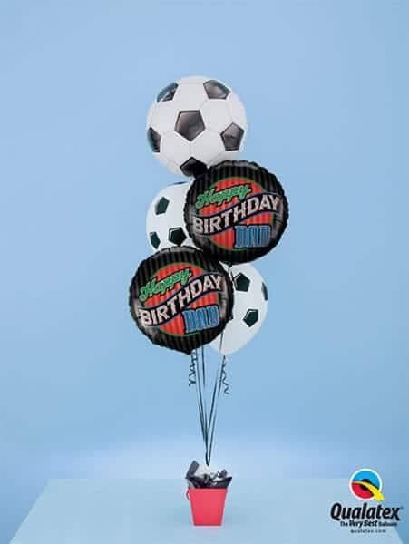 Bukiet 382# - 18″ / 46cm Soccer Ball Qualatex #71597, 25576_2, 45388_2