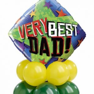 Bukiet 389# - 18″ / 46cm Very Best Dad Stars Qualatex #40549, 43567_8