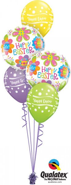 Bukiet 401# - 18″ / 46cm Easter Colourful Blossoms Qualatex #35089_2, 13245_3