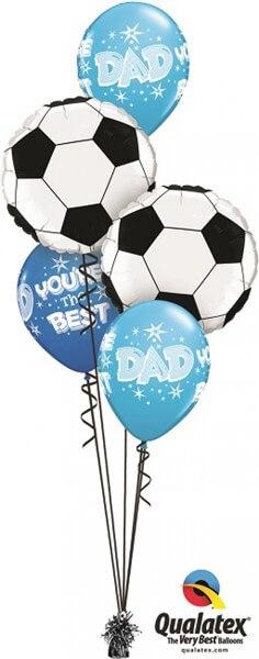 Bukiet 385# - 18″ / 46cm Soccer Ball Qualatex #71597_2, 41690_3