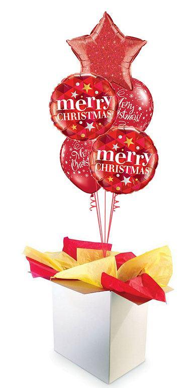 """18"""" / 46cm Poczta Balonowa Świąteczna Bukiet Premium #Świąteczna Bukiet Premium"""