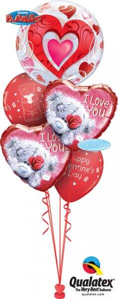 Bukiet 403 Red Hearts & Filigree Qualatex #33909 20811-2 12407-2