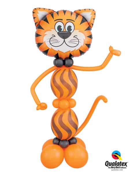 Bukiet 434# – 30″ / 76cm Tickled Tiger Qualatex #16189, 43548_8, 43079_4, 43570_4, 79701_3, 27934_2