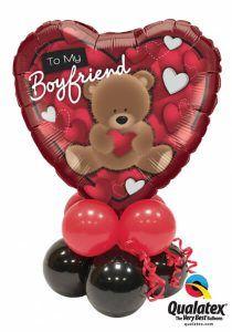 Bukiet 407 To My Boyfriend Bear Qualatex #41320 43599-4 43548-4