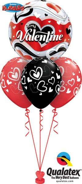 Bukiet 404 To my Valentine Banner Hearts Qualatex #33907 11123-3