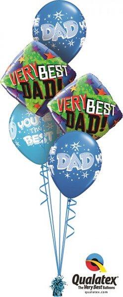 Bukiet 388# - 18″ / 46cm Very Best Dad Stars Qualatex #40549_2, 41690_3