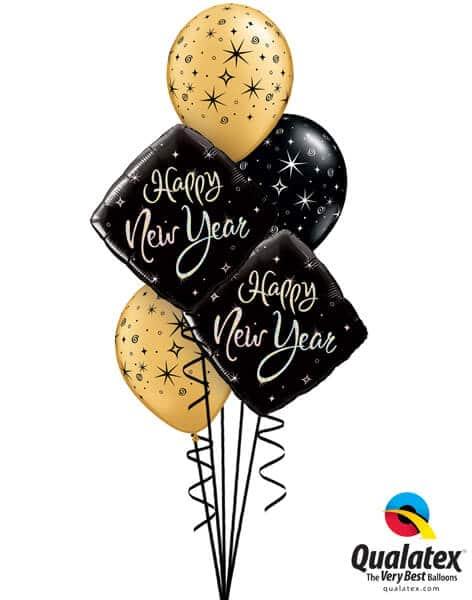 "Bukiet 479# - 18"" / 46cm New Year Sparkle Qualatex #27673_2, 12578_3"