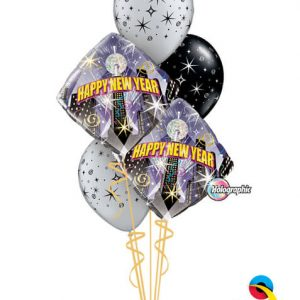 "Bukiet 481# - 18"" / 46cm New Year Party Coutdown Qualatex #54149_2, 12579_3"