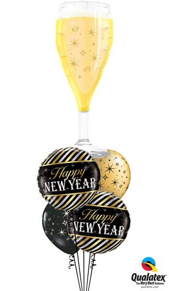 """Bukiet 483# - 39"""" / 99cm Bubbly Wine Glass Qualatex #16269, 43525_2, 12578_2"""