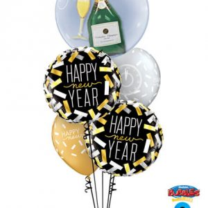 "Bukiet 486# - 24"" / 61cm Bubbly Wine Bottle & Glass Qualatex #16269, 43531_2, 46512_2"