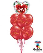 Bukiet 491# - 20″ / 51cm Love Roses Qualatex #33878, 40862_6