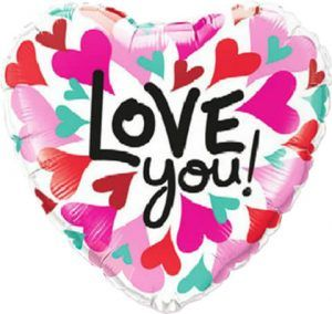 "18"" / 46cm Love You Converging Hearts Qualatex #46070"