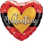 "18"" / 46cm Valentine Burnished Heart Gold Qualatex #46076"