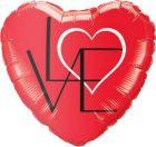 "18"" / 46cm L(Heart)VE Red Qualatex #46079"
