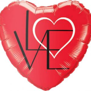 "18"" / 46cm L(Heart)VE Red Qualatex #46079"