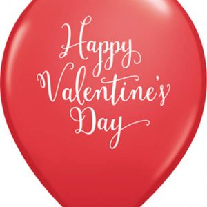 "11"" / 28cm 25ct / 25szt Happy Valentine's Day Script Qualatex #48206"