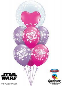Bukiet 507# - 24″ / 61cm Deco Bubble - Stylish Hearts Qualatex #29505, 46065_6
