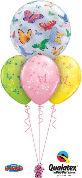 Bukiet 521# - 22″ / 56cm Brilliant Butterfly Magic Qualatex #15607, 38428_3