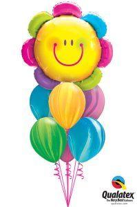 Bukiet 522# - 32″ / 81cm Radiant Rainbow Flower Qualatex #15384, 91544_6