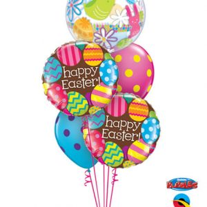Bukiet 518# - 22″ / 56cm Easter Eggs & Chocolate Qualatex #90595, 13243_2, 10240_2