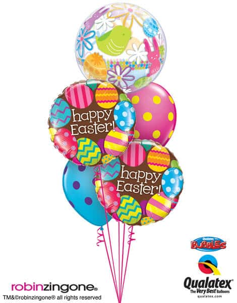 Bukiet 518# - 22″ / 56cm Easter Eggs & Chocolate Qualatex #90595, 13243_2, 10240_2