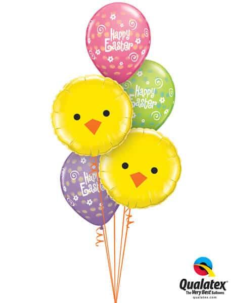 Bukiet 516# - 18″ / 46cm Easter Chicks Qualatex #23980_2, 41419_3