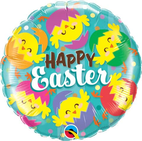 """18"""" / 46cm Happy Easter Hatched Chicks Qualatex #24013"""