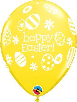 "11"" / 28cm 25ct / 25szt Easter Eggs & Daisies Qualatex #13245"