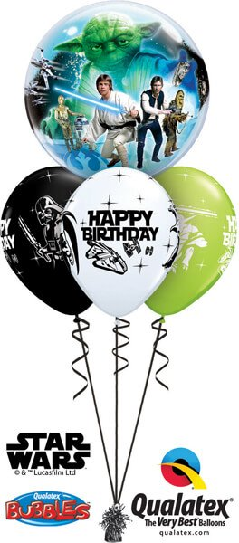 Bukiet 542 Star Wars Birthday Qualatex #10474 18669-3